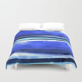 Wave Stripes Abstract Seascape Duvet Cover