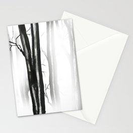 wood, snow and fog Stationery Cards