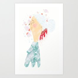 Bleeding Bun Art Print