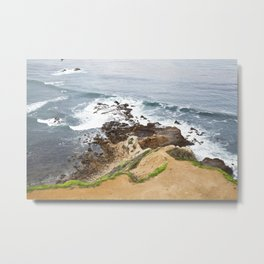 The Pacific Coast Along PVE, CA Metal Print