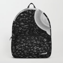 Coffee Beans (Black and White) Backpack