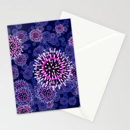 Influenza (navy) Stationery Cards