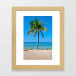 Palm in Paradise 2 Framed Art Print