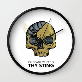 #1 Oh Death, Where Is Thy Sting Wall Clock