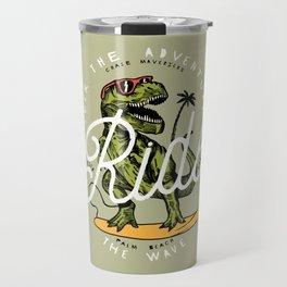 Dinosaur Surfer Travel Mug