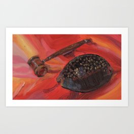 Shell and gavel Art Print