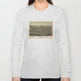 Vintage Pictorial Map of Waynesburg PA (1897) Long Sleeve T-shirt