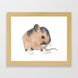 Bitty Mouse - Color Framed Art Print