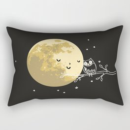 Owl and Moon Rectangular Pillow