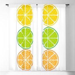 Slices of Clemetines, Mandarines and Tangerines Blackout Curtain