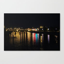 Bow River at Night Canvas Print