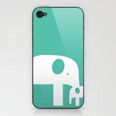 Blue Elephants iPhone & iPod Skin