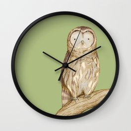 Tawny Owl Wall Clock