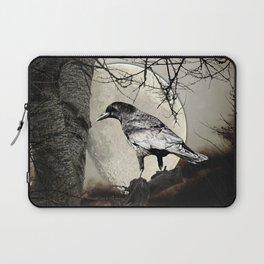 Rustic Black Bird Raven Crow Tree Moon A142 Laptop Sleeve