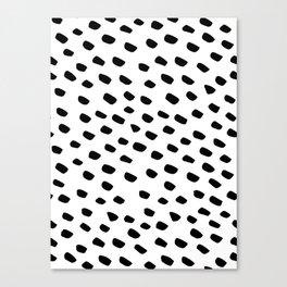 Brush Dot Pattern White Canvas Print