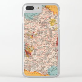 Gastronomy Map Of France 1932 Clear iPhone Case