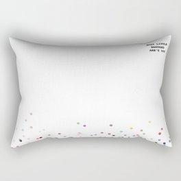 Nosy little b***ard Rectangular Pillow