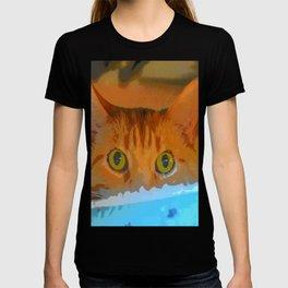 Sir Watson Tabby Digital Cat T-shirt