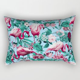 Spring Summer Floral Pattern Rectangular Pillow