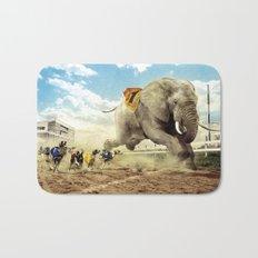 Elephant best racer Bath Mat