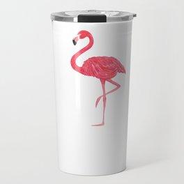 Flamingo fuchsia flap Travel Mug