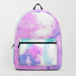 Cotton Candy watercolor abstract Backpack