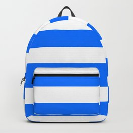 Brandeis blue - solid color - white stripes pattern Backpack