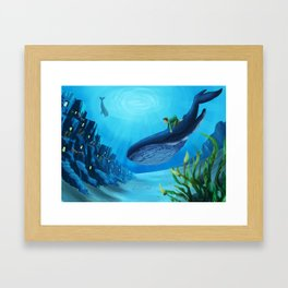 What if we could live underwater? Framed Art Print