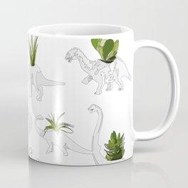 Dino and Cacti on White Coffee Mug