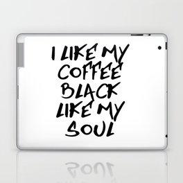 Black like my soul Laptop & iPad Skin