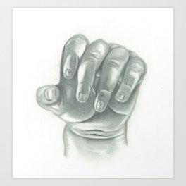 Baby Hand Art Print