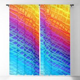 Colorful shiny modern stripes ornament Blackout Curtain