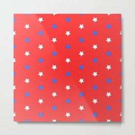Stars on red Metal Print