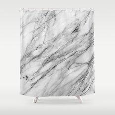 Carrara Marble Shower Curtain