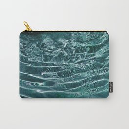 Iridescent Teal Purple Ocean Dream #1 #water #decor #art #society6 Carry-All Pouch