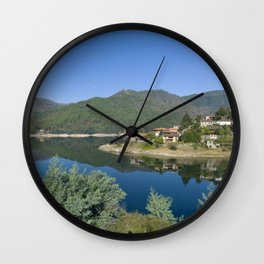 Canicada lake in Northern Portugal Wall Clock