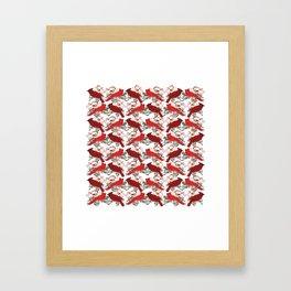 Little Cardinals Framed Art Print