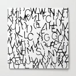 Stenciled Letters Metal Print