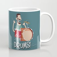 drums Mugs featuring Drums! by soy8bit