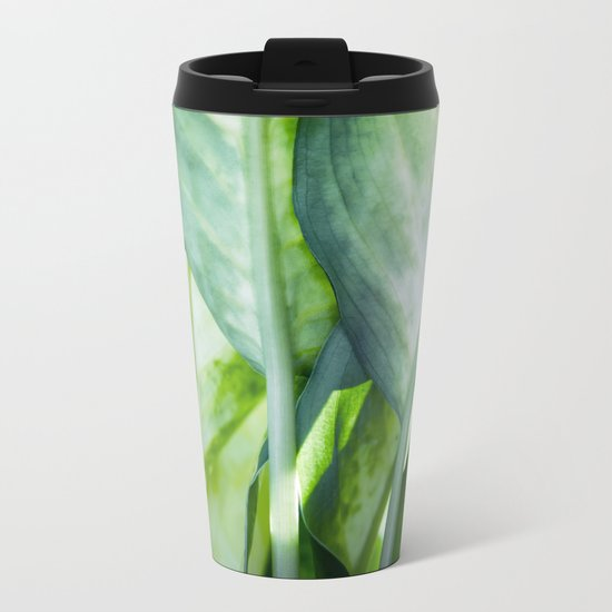 tropic abstract Metal Travel Mug