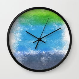 abstract painting Wall Clock
