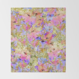 Fancy Field Flowers Throw Blanket