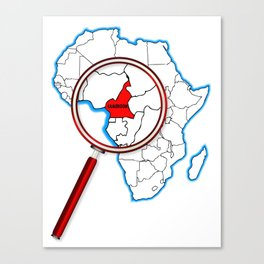 Cameroon Under A Magnifying Glass Canvas Print