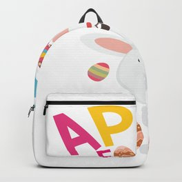 Easter Bunny April Fools Rabbit 2018 Backpack