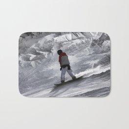 "Snowboarder ""just cruisin'"" Winter Sports Gift Bath Mat"