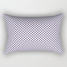 Gentian Violet Polka Dots Rectangular Pillow