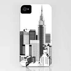 New York Black and White 2 iPhone (4, 4s) Slim Case