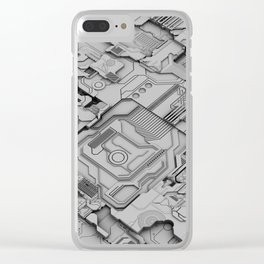 White Silicon Clear iPhone Case
