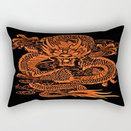 Epic Dragon Orange Rectangular Pillow