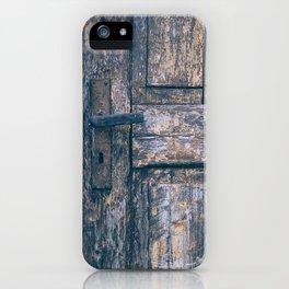Weathered Wooden Door iPhone Case